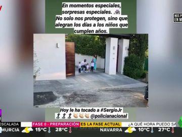 """La """"sorpresa especial"""" de la Policía Nacional al hijo mayor de Sergio Ramos y Pilar Rubio por su cumpleaños"""