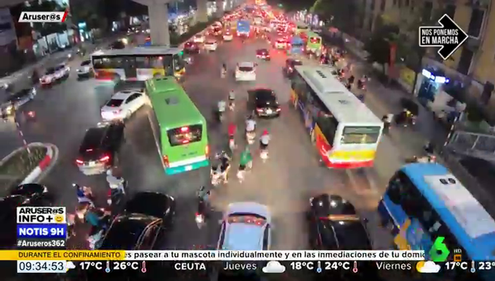 Caos en las carreteras de Vietnam: así es la vuelta a la normalidad para una ciudad tras la cuarentena