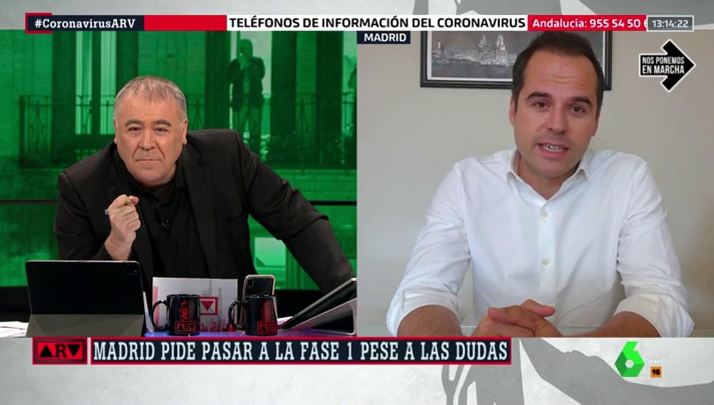 """Ignacio Aguado defiende que Madrid pase a la fase 1: """"El confinamiento no mata al virus"""""""