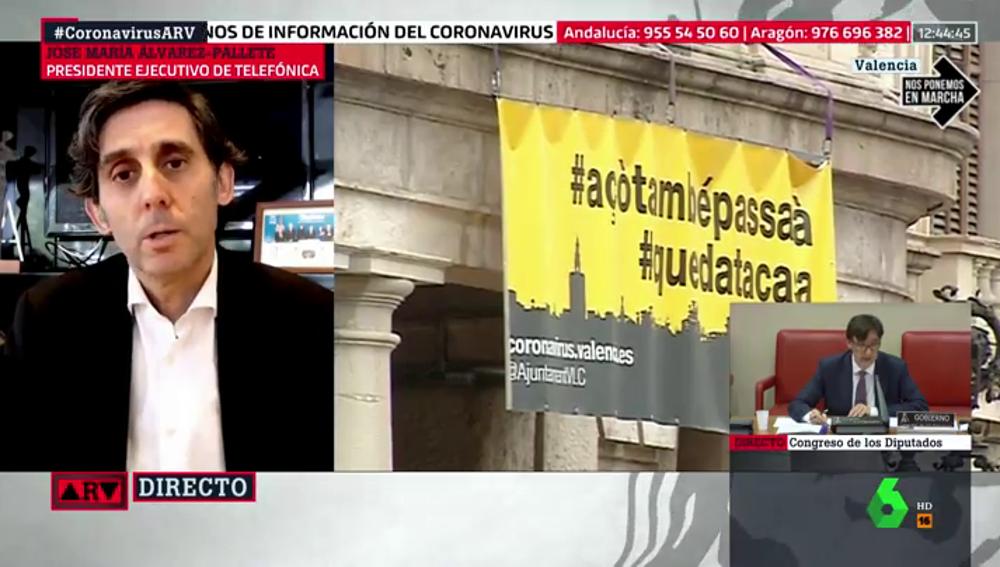 """El presidente de Telefónica analiza el impacto del coronavirus en la transformación digital: """"La sociedad a la que volvemos será distinta"""""""