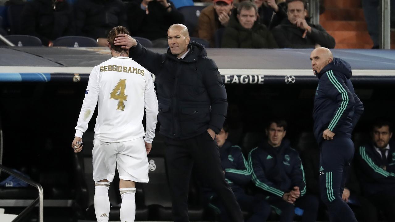 Segio Ramos y Zidane