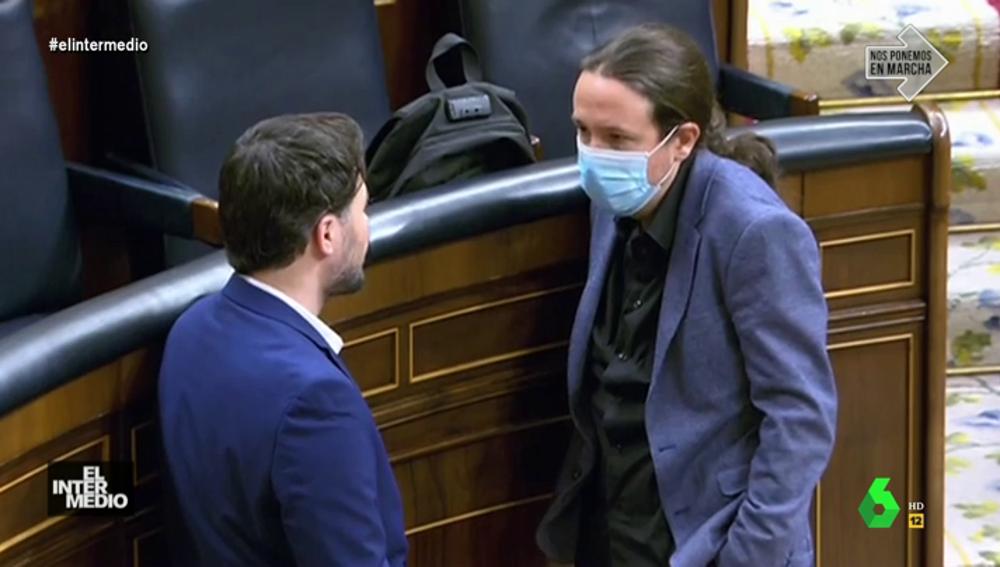 Pablo Iglesias invita a Gabriel Rufián a su casa