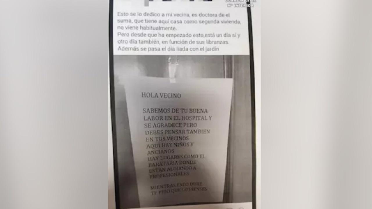 Imagen de la publicación de un vecino en Segovia
