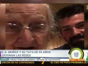 La tierna relación de Miguel Ángel Muñoz y su 'tata' llega hasta la televisión americana