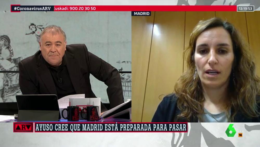 """Mónica García (Más Madrid): """"Ayuso no puede jugar a la ruleta rusa con la salud de los madrileños"""""""