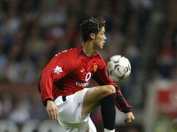 Cristiano Ronaldo, durante su etapa en el Manchester United