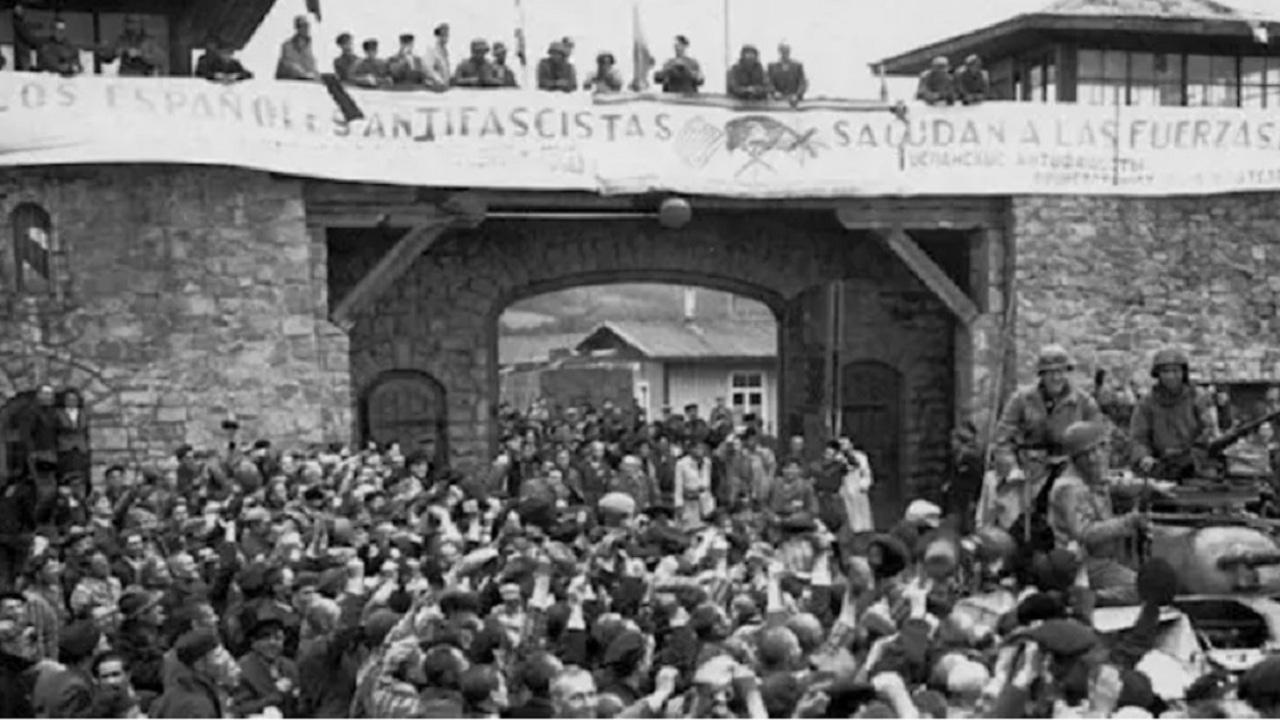 Imagen de la liberación de Mauthausen, el 5 de mayo de 1945