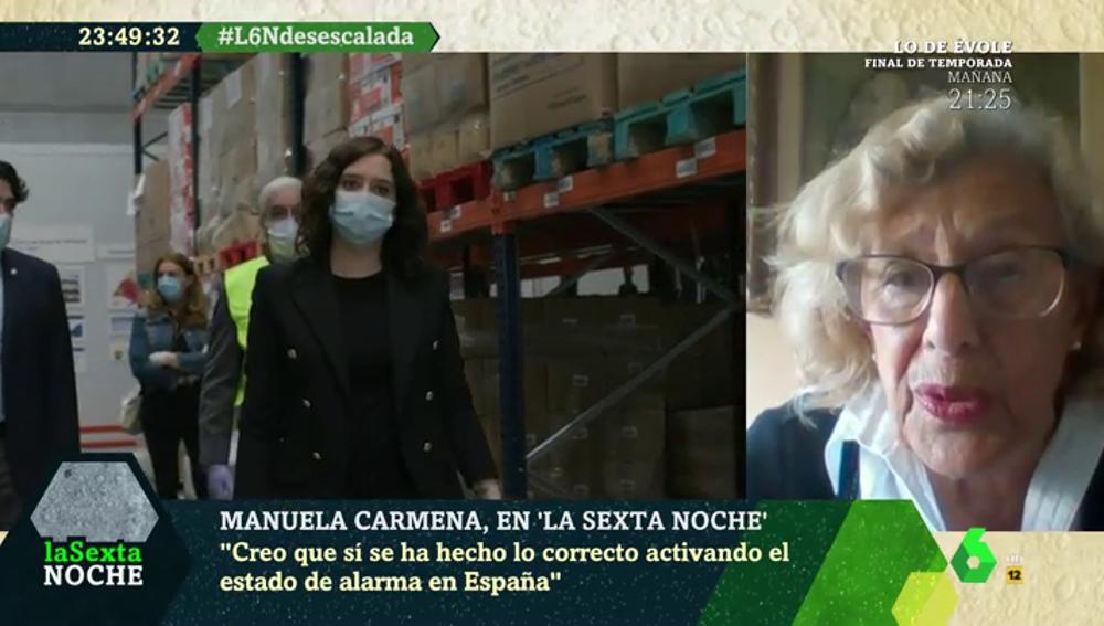 """La dura crítica de Manuela Carmena: """"He oído cosas muy pueriles y bobas; la sociedad española no merece esos debates"""""""