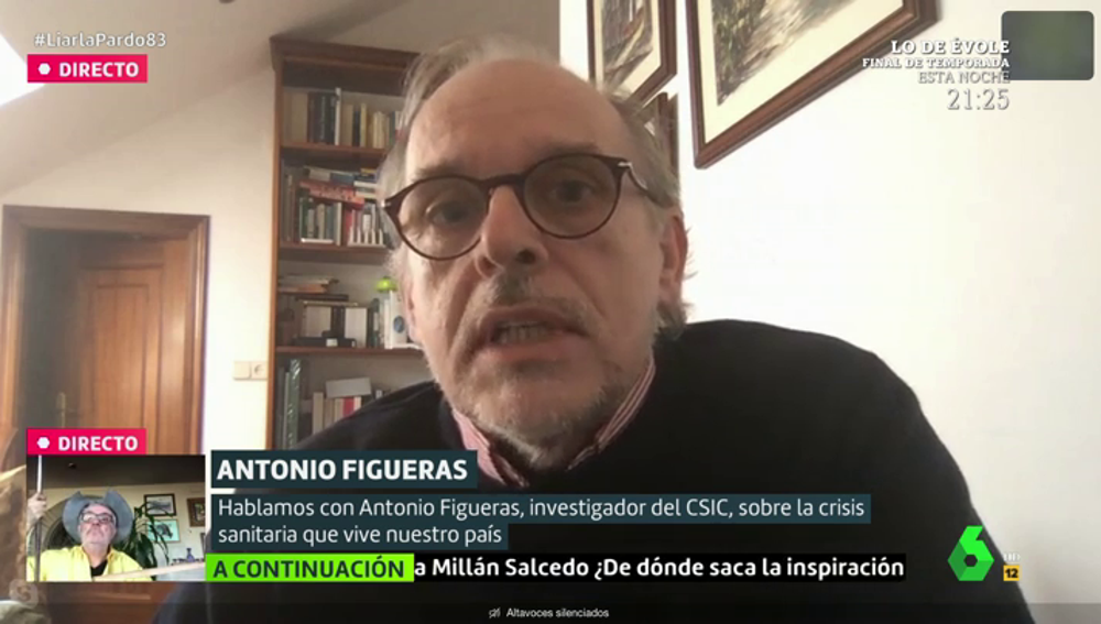 """Antonio Figueras (CSIC) alerta de un posible """"retroceso"""" en la desescalada: """"La OMS lleva 30 años diciendo que esto iba a pasar"""""""