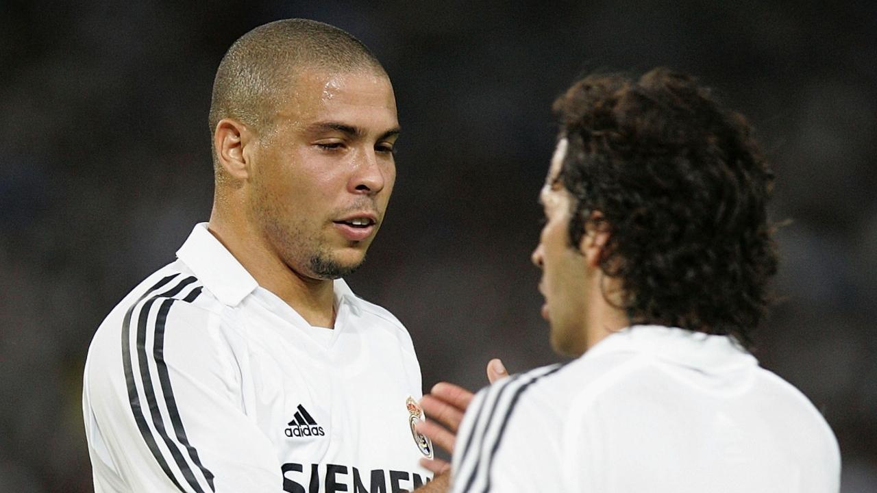 Ronaldo, con Raúl
