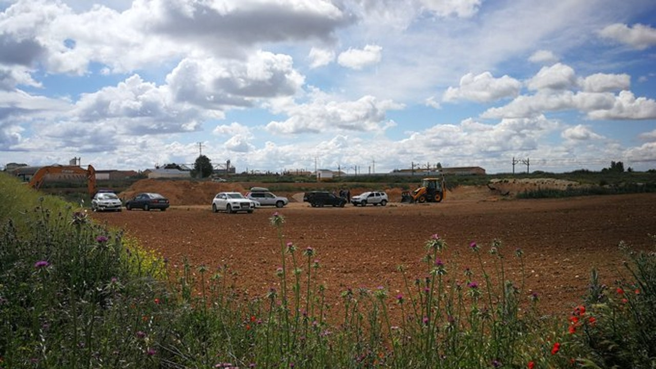 La zona de Los Terreros, en la localidad de La Roda, donde se han hallado los restos óseos