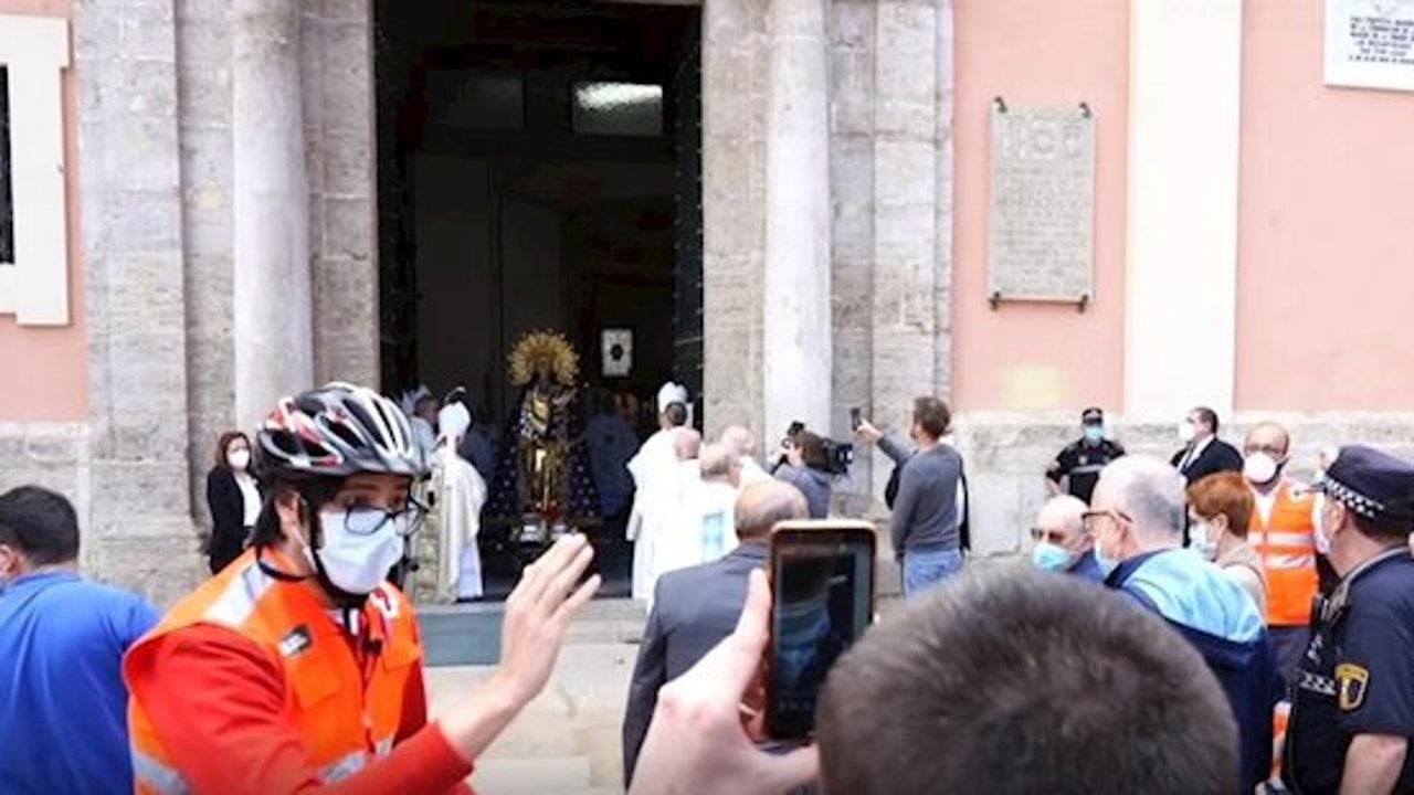 Celebración de la Virgen de los desamparados en Valencia