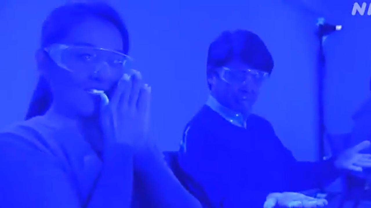 Captura del experimento en Japón sobre el contagio del coronavirus