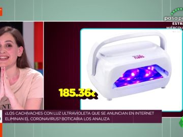 Las estafas de Internet: Boticaria García desmonta lo objetos con rayos ultravioleta que venden como desinfectante del coronavirus