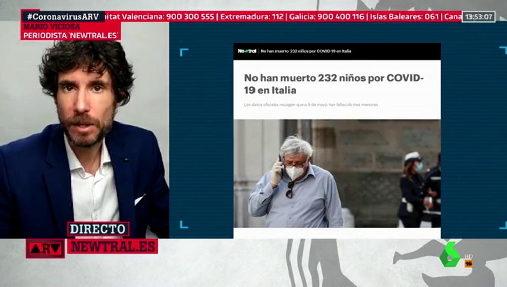 No, no han muerto 232 niños por coronavirus en Italia: han fallecido tres