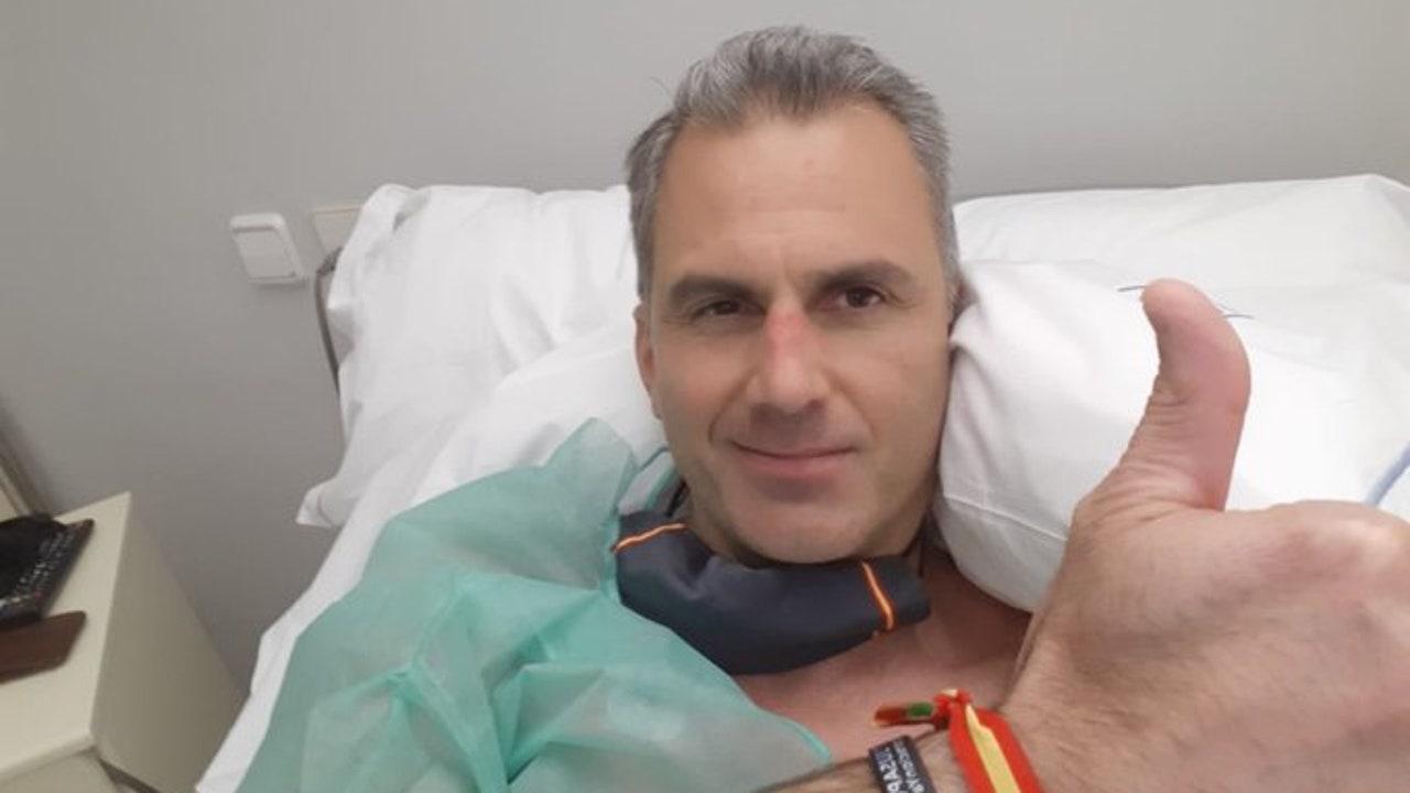 Imagen compartida por el propio Ortega Smith desde el hospital.