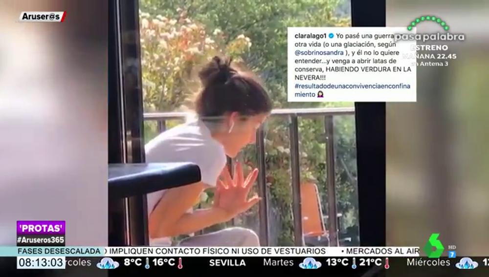 """La divertida broma de Dani Rovira a Clara Lago como """"resultado de una convivencia en confinamiento"""""""