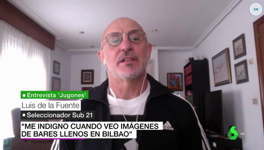 El bilbaíno Luis de la Fuente, seleccionador Sub 21, indignado por las imágenes de terrazas de bares abarrotadas en Bilbao