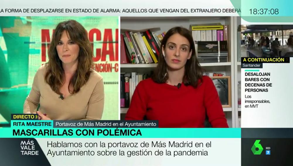 """Rita Maestre, sobre un acuerdo con Cs para desbancar a Ayuso: """"Más Madrid estará dispuesto a cualquier fórmula que cambie las tornas"""""""