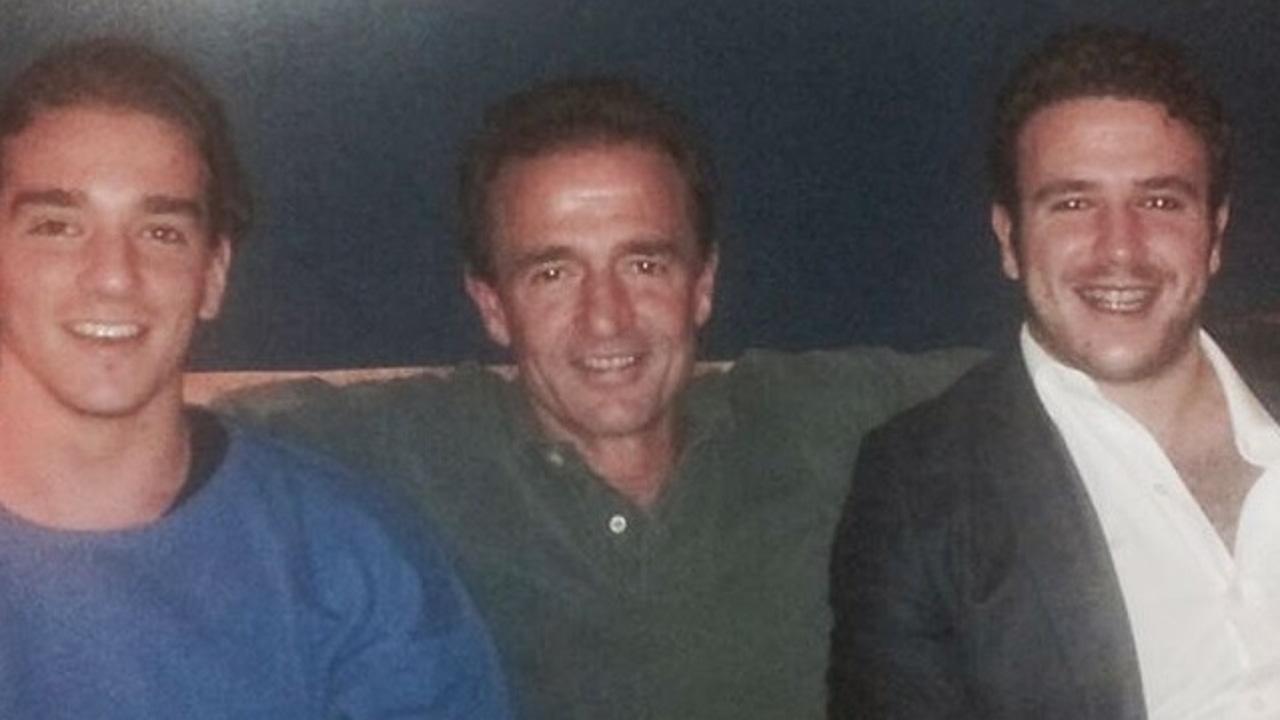 Alessandro Lequio junto a sus hijos Clemente y Aless