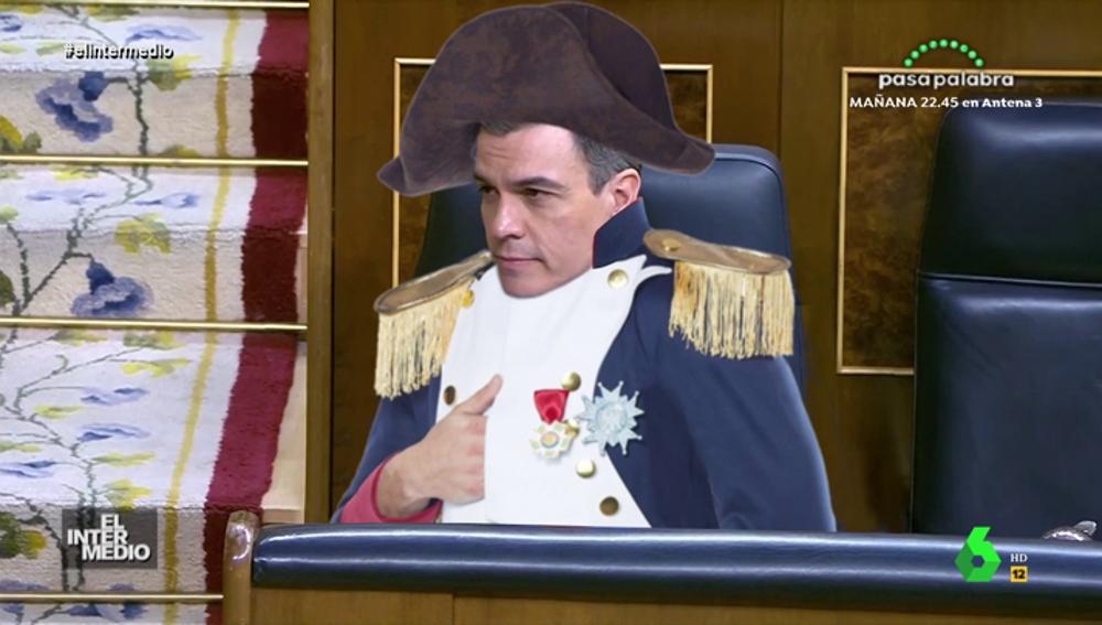 La reacción de Pedro Sánchez al '¿se cree que es Napoleón?' de Pablo Casado