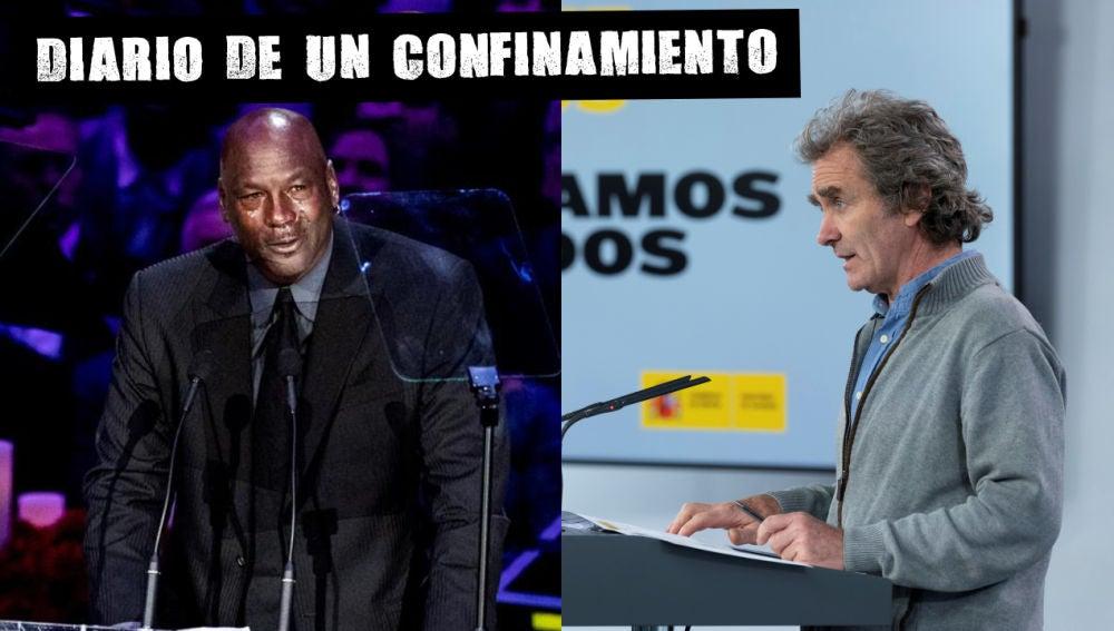 Michael Jordan y Fernando Simón