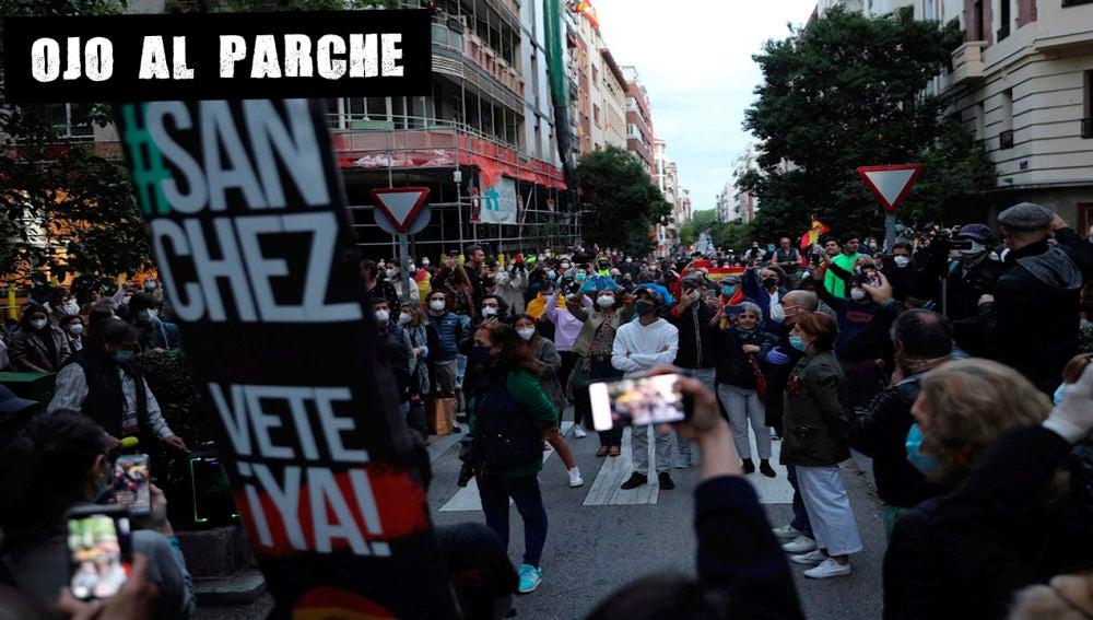 Protesta contra el Gobierno en Madrid