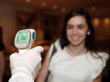 Imagen de archivo de un control de temperatura