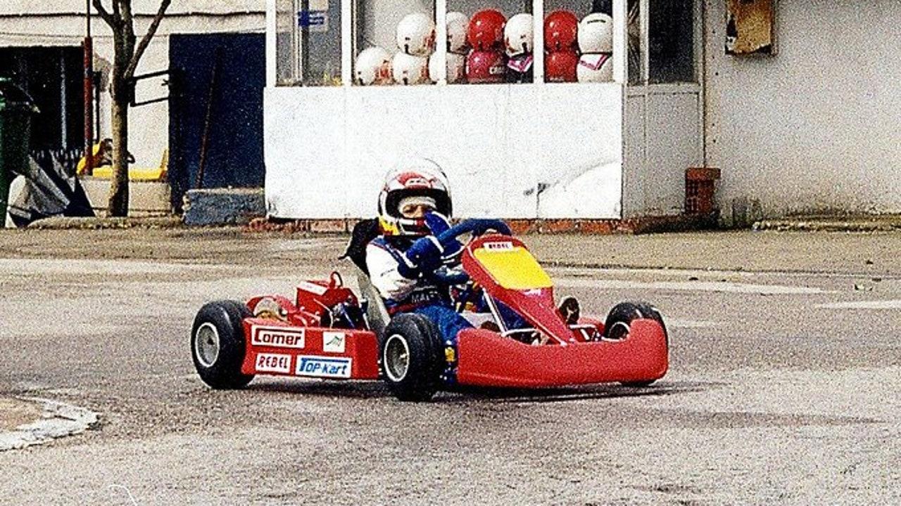 Carlos Sainz, de pequeño