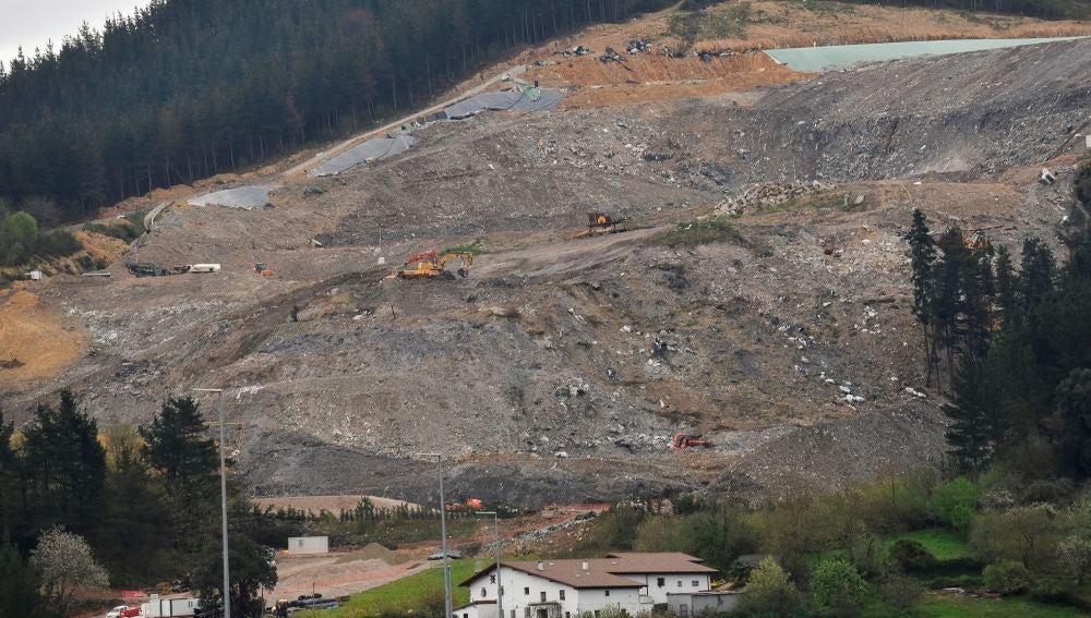 Vista del vertedero de Zaldibar (Bizkaia)