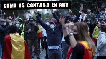 Imagen de la manifestación en Núñez de Balboa