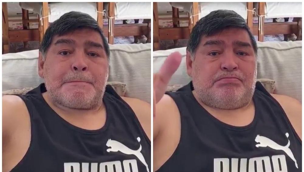 Diego Maradona, emocionado