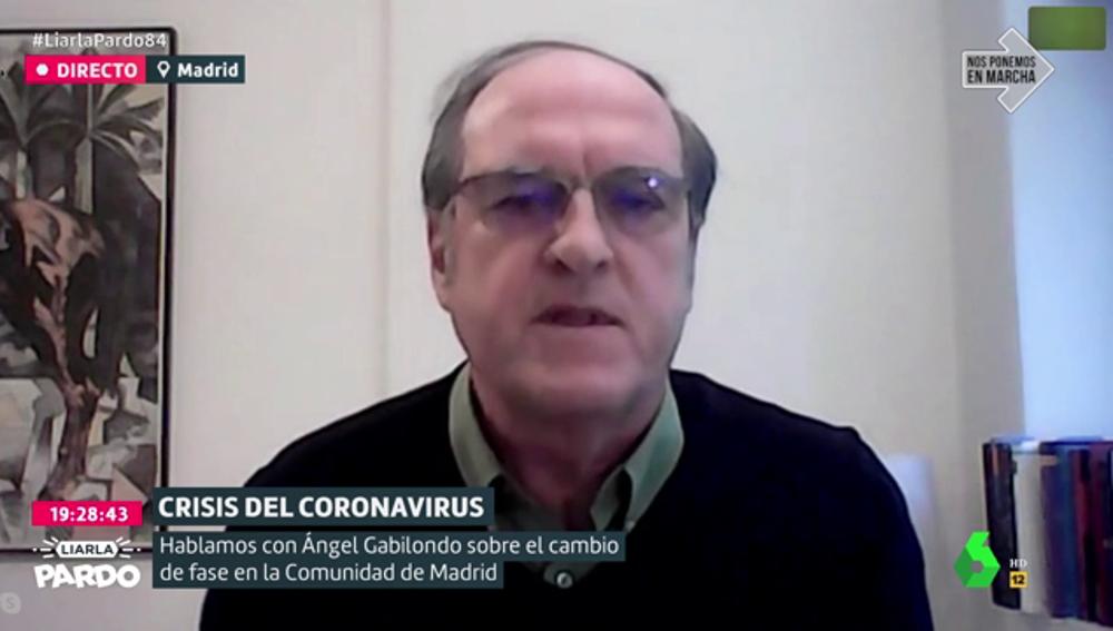 """Ángel Gabilondo: """"Espero que Madrid pase pronto a la fase 1, pero, no se trata de insistir sino de solventar los problemas"""""""