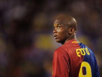 Eto'o, con el Barça