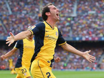 Diego Godín, con el Atlético
