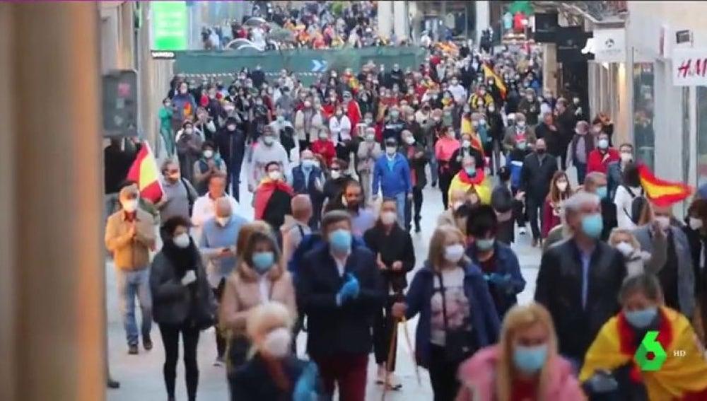 Protestas en Salamanca contra el Gobierno por su gestión en la crisis del coronavirus