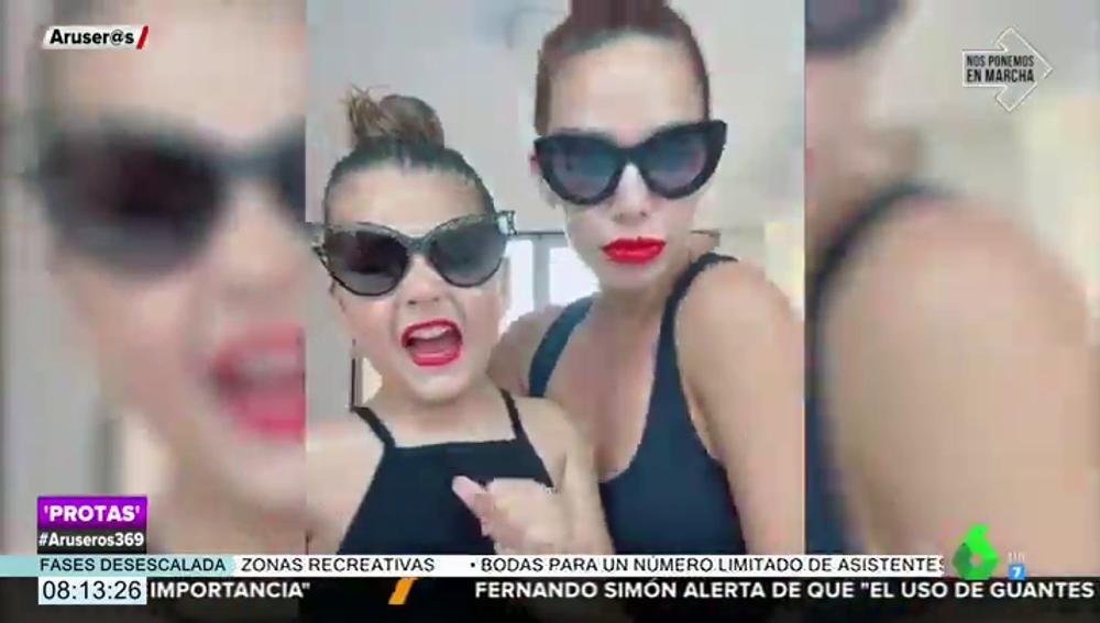 Tamara Gorro y Ezequiel Garay protagonizan una divertida competición de estilismos junto a sus hijos