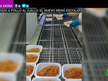 Los nuevos menús escolares que reparte la Comunidad de Madrid