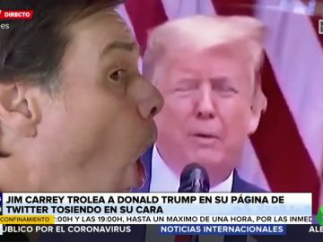 Jim Carrey trolea a Donald Trump en Twitter tosiéndole en la cara