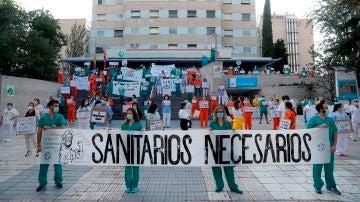Miembros del personal sanitario del Hospital Gregorio Marañón