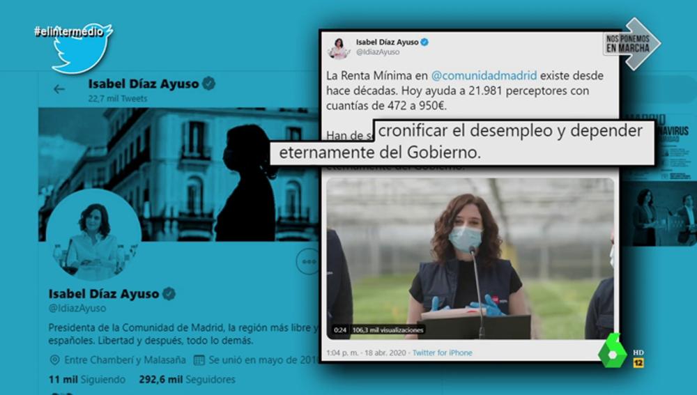 Díaz Ayuso contra el Ingreso Mínimo Vital