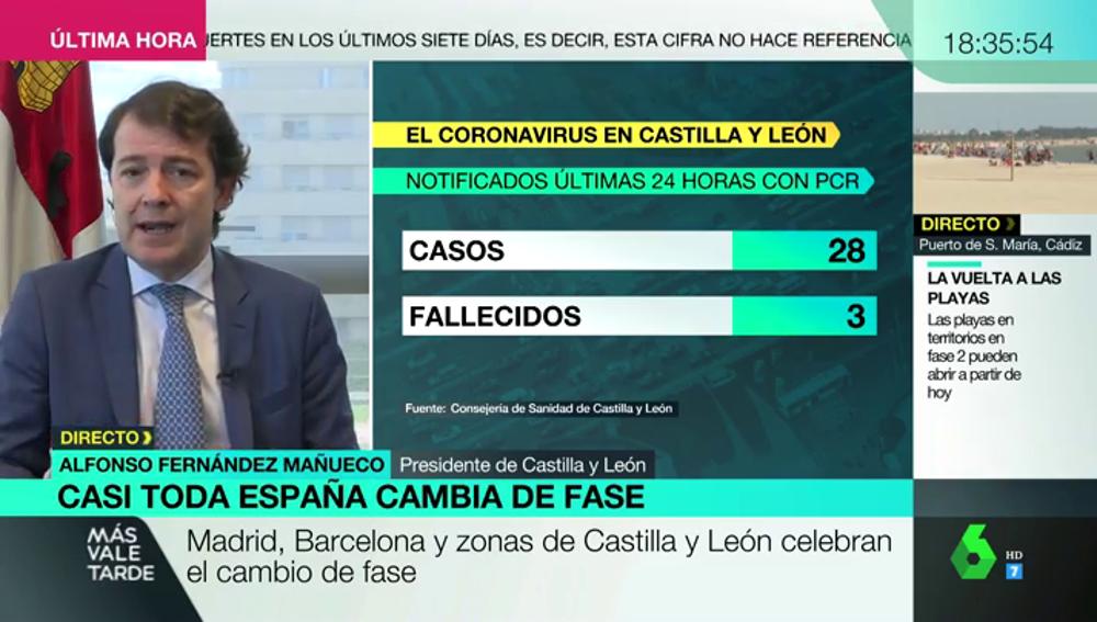 """Fernández Mañueco, presidente de Castilla y León (PP): """"El instrumento jurídico es irrelevante, pero hay que limitar la movilidad"""""""