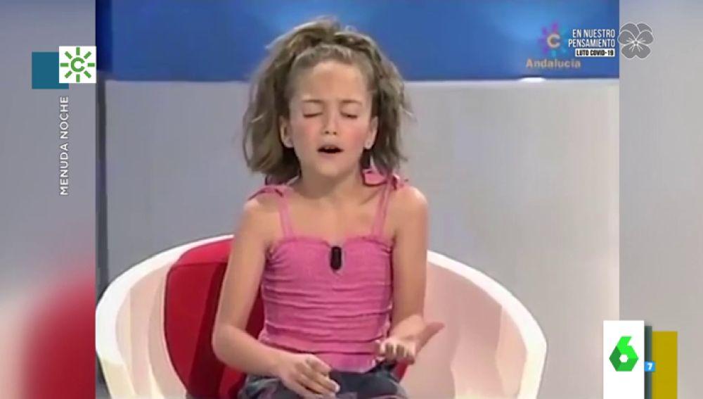 Así cantaba copla Ana Mena con tan solo nueve años en su paso por Juan y Medio