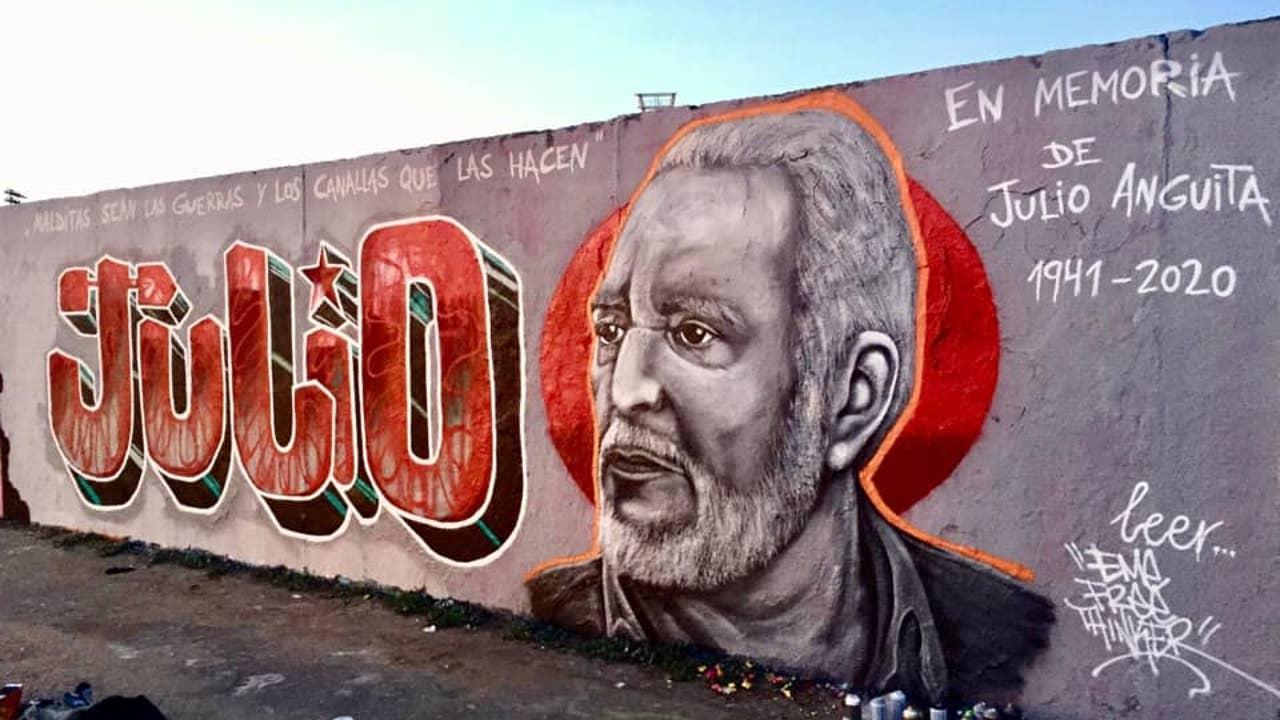 Mural en memoria de Julio Anguita en Berlín