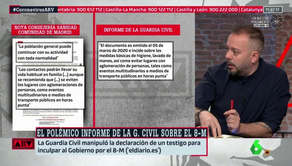 """Maestre denuncia otra manipulación en el polémico informe de la Guardia Civil: """"No es un error, es una manipulación interesada"""""""