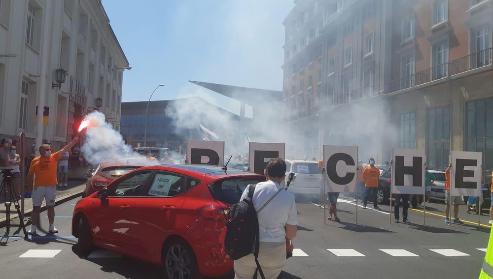 Trabajadores de Alcoa se concentran en Lugo y A Coruña ante el posible despido de 500 trabajadores
