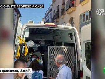 El emocionante regreso a casa de Juan José tras 58 días ingresado en la UCI por COVID-19