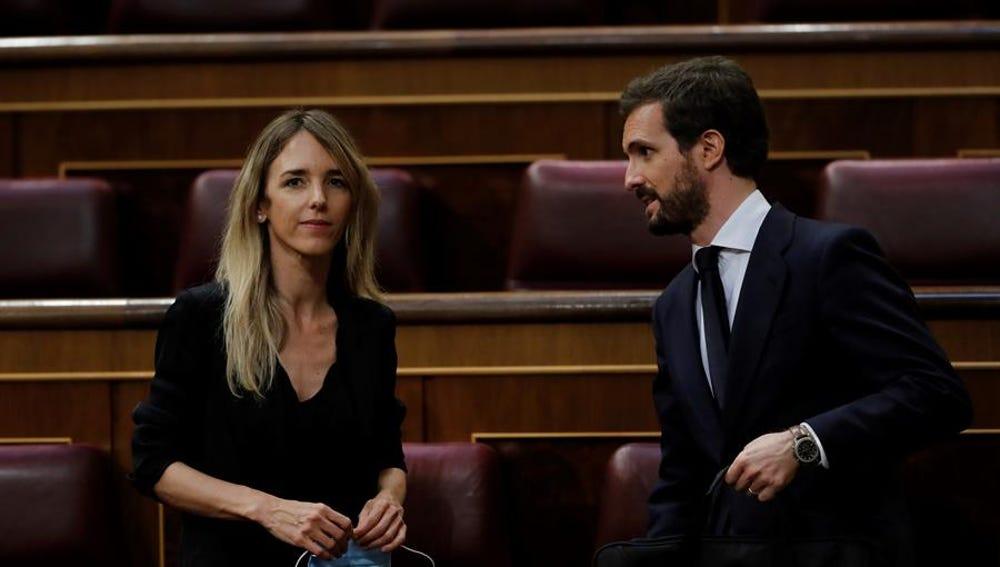 El líder del PP, Pablo Casado, y Cayetana Álvarez de Toledo.