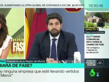 """López Miras (PP) reprueba las palabras de Álvarez de Toledo sobre el padre de Iglesias: """"Debemos estar a la altura de las circunstancias"""""""