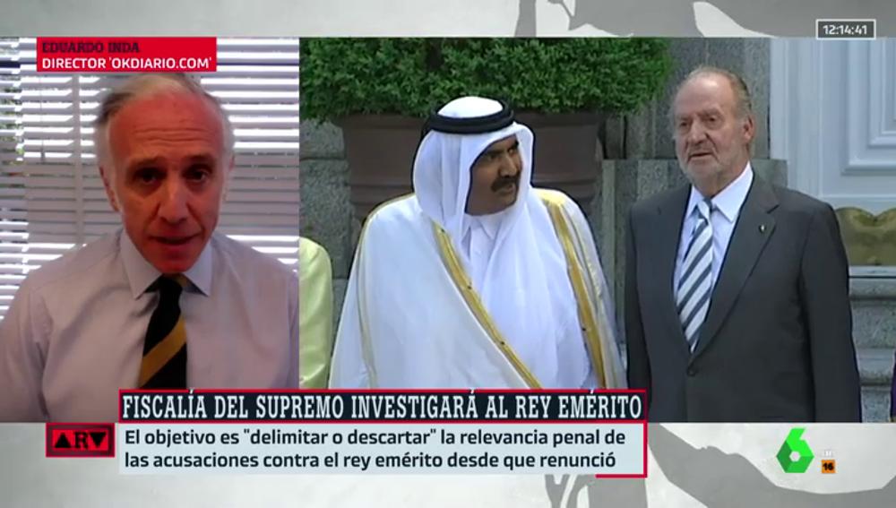 Inda afirma que el rey Juan Carlos recibió las comisiones cuando aún era inviolable